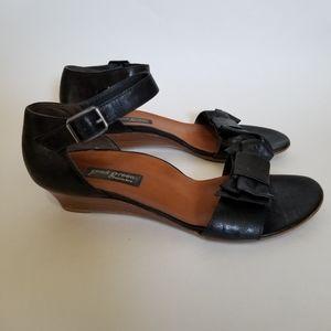 Paul Green Lexi Bow Sandals Wedge Heels Buckle
